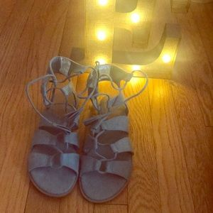 Lace Up Sandals, Never worn.